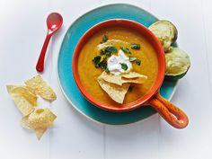 Avocado Sweet Potato Chipotle Soup