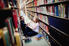 this couple met in a library... or something like that. i LOVE their photo shoot!