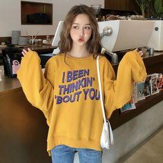 カジュアルアルファベットルーズ2色合わせやすいソフトパーカー Buy T Shirts Online, Simple Quotes, Logo Design, Graphic Design, Apparel Design, Korean Fashion, Shirt Designs, Graphic Sweatshirt, Logos