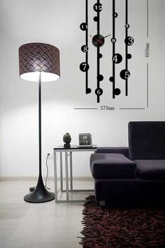 You could find a lot of interesting posts about different wall stickers on DERLOOK. We pay so much attention to these cool wall decorations because we think that they are one of the best ways to personalize your space and add something unusual to it. Home Design Decor, House Design, Home Decor, Wall Clock Sticker, Clock Wall, Diy Clock, Creative Design, Creative Ideas, Innovation Design
