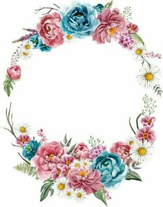 La photographie - coisas que eu gosto amour f. Art Floral, Frame Floral, Flower Frame, Flower Art, Borders For Paper, Borders And Frames, Flower Background Wallpaper, Flower Backgrounds, Wreath Watercolor