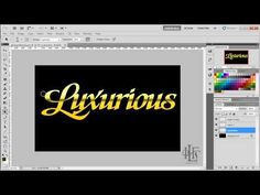 ▶ How to create a quick and easy gold effect using Photoshop - YouTube