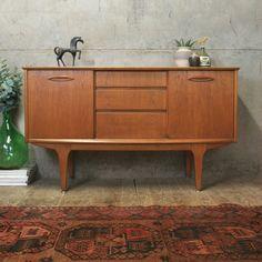 Small Sideboard, Teak Sideboard, Vintage Furniture, Home Furniture, Media Unit, Media Cabinet, Mid Century Style, Mid Century Furniture, Beautiful Interiors
