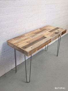 18 best hairpin leg desk images desks desk wood desk rh pinterest com