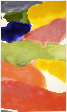 Tutti-Fruitti, 1966 by Helen Frankenthaler. Color Field Painting, Lyrical Abstraction. abstract. Albright-Knox Art Gallery, Buffalo, NY, USA