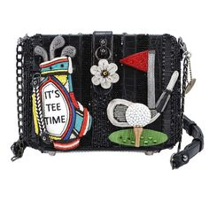 383cd69c01 Tee Time Handbag Beaded Gold Theme Novelty Handbag