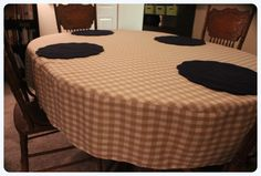 { I want to preface this post by explaining that I am by NO means a sewing expert, quite the opposite–a novice. I am learning as I go, so bare with me. If you have any helpful tips, please sh… Oval Dinning Table, Dining Room Table, Comfy Cozy Home, Diy Cushion Covers, Oblong Tablecloth, Tablecloth Ideas, Fitted Tablecloths, Project Table, Dining Chair Covers