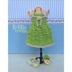 Doll outfitt made by request... ^^... Any inquiries please text me  to BBM or Line... Thanks! #crochet #hakken #crochetoutfit #instacrochet #dolloutfit #dress #bolero #ballet-shoes #ribbon #mini #tiny #mannequin #doll #bajurajut #rajut #bajuboneka #rorrucrochet #Padgram