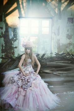 Coloured Wedding Gowns / Wedding Style Inspiration / LANE