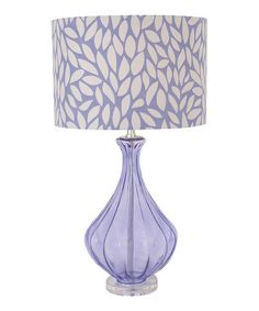 Look at this #zulilyfind! Purple Leaves Table Lamp #zulilyfinds