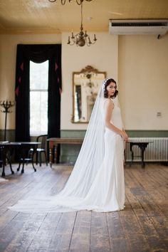 cathedral length veil in ivory tulle, Juliet cap style, 1930s veil. THIS..THIS IS THE VEIL.
