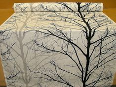 Cotton Fabric Black Grey White Tree Fabric Funky Material per Metre Plenty in stock