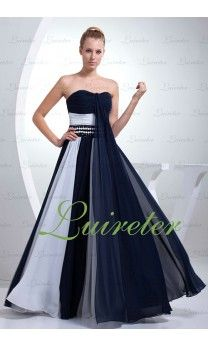 Great A-Line Floor Length Sweetheart Black Chiffon Mother Of The Bride Dress