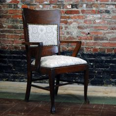 Nouveau Arm Chair Reupholstered by territoryhardgoods on Etsy, $250.00