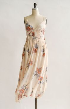 Vintage Inspired Dress / Feminine Floral Dress / Romancing the Petals Dress