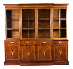 At wide and tall, this is also one of our larger bookcases. Low Cabinet, Cabinet Doors, China Cabinet, Large Bookcase, Bookcases, Mahogany Bookcase, Antique Furniture, Antiques, Storage