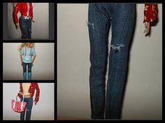 como hacer un jeans para barbie