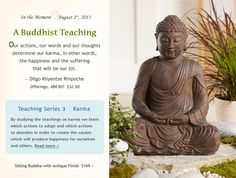 """Buddhist teaching from Dilgo Khyentse Rinpoche. From """"Offerings,"""" item BK307, dharmacrafts.com. #dharmacrafts"""