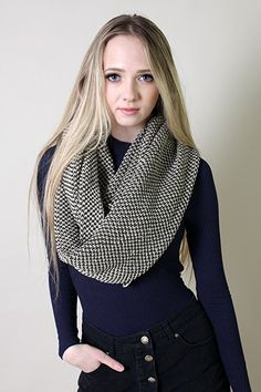 Amazon.com: Viverano Organic Cotton Knit Infinity Loop Scarf-Soft, Non-Toxic (Total Eclipse): Clothing