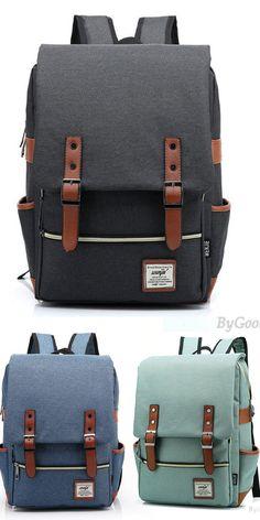 Vintage Canvas Travel Backpack Leisure Backpack&Schoolbag for big sale ! Which color do you want? #backpack #bag #college #rucksack