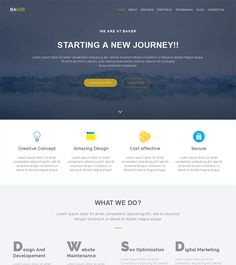 Baker is a creative, multipurpose free bootstrap html5 template designed for professionals and agencies. This free html5 template is suitable for any business, corporate, portfolio, blog and any kind of website. It is clean and has a professional design and perfect solution for web designers.