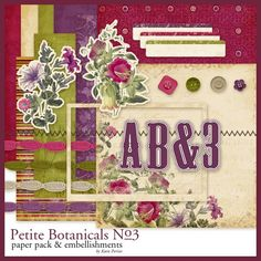 Petite Botanicals No. 03 Kit - Digital Scrapbooking Kits DesignerDigitals