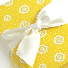 yellow wrapping paper
