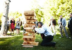 7 Ways To Make Your Cocktail Hour More Fun, GIANT JENGA