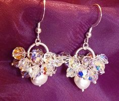 Crystal Clusters - Swarovski crystals & Fresh Water Pearls.