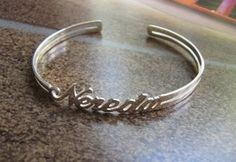 Sterling Silver open sides personalised bracelet, any name any word on your bracelet. Available from Sweet Sweet Silver for $73.00.