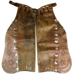 Geo Lawrence stamped batwing chaps