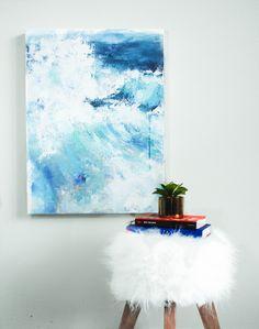 'Undercurrents' abstract ocean paintings, series release 7/30 >> S.Rueter Art  #ocean #oceanart #coastalpaintings #beachhouse #moderninterior #westelmart #abtsractocean #modernart #srueterart #oceancanvas #happiness #water