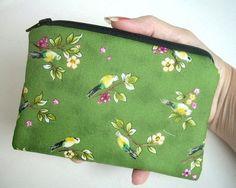 Green Skylark Eco Friendly Padded Zipper pouch coin purse Gadget  Ipod Case by JPATPURSES, $8.00