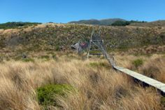 Swing Bridge in the Gouland Downs in the Heaphy Track here in NZ :) Great Walks, South Island, North West, Conservation, Wilderness, Fields, Coastal, Bridge, National Parks