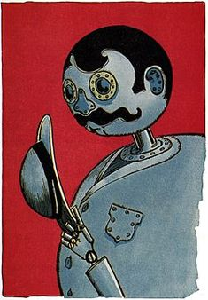Tik-Tok--a robot with a moustache, two of my favorite things, plus, Tik-Tok is just a great character!