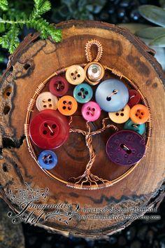 Tree of Life - Mix Button Tree by ImaginativeArtbyJo on Etsy