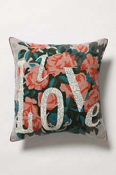 these paint by numbers pillows from anthropologie are worth redecorating a room for