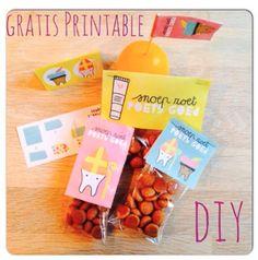 DIY pepernoten zakjes Gratis printables voor Sinterklaas