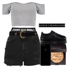 A fashion look from November 2016 featuring Boohoo tops, Topshop shorts and Fleur du Mal panties. Browse and shop related looks. High Fashion Outfits, Lit Outfits, Dope Outfits, Short Outfits, Girl Fashion, Summer Outfits, Casual Outfits, Teenage Outfits, Polyvore Outfits