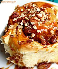 sticky buns for breakfast after having overnight guests via tablefortwoblog.com