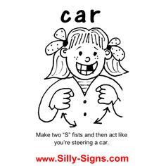 Sign Language Learn The Sign Word For HELP ASL Pinterest - Car sign language