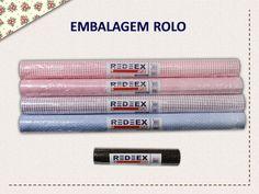 O Tecido Adesivado REDEEX Aplik está disponível em rolos individuais nas seguintes medidas: 20cm x 1m | 50cm x 1m | 50cm x  2m | 50cm x 3m | 50cm x 5m | 50cm x 10m