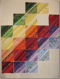 Rainbow Strips Quilt
