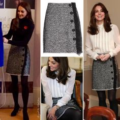 Its wonderful to see Kate wearing her Dolce & Gabbana Bouclé Wool-blend Skirt again. I loved it when she first wore this as guest editor for The Huffington Post. It has that youthful touch I know I like to see her in. What do you think of Kate's re-wear today? #royal #BritishRoyalty #monarchy #royalfashion #styleicon #diana #instalike #smile #happy #willandkate #katemiddleton #instaroyals #kateduche...