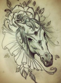 The tattoo artist has used pink and purple wisps in the tattoo design to symbolize the horse moving at speed. Description from pinterest.com. I searched for this on bing.com/images