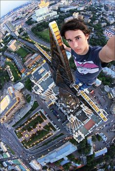 Now that's a selfie…That makes me feel dizzy..