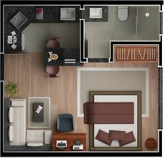 Studio Apartment Plans In modern urban living, lofts and studios present a re. Studio Apartment Plans In modern urban living, lofts and studios present a reasonable replacemen Small Apartment Layout, Studio Apartment Floor Plans, Studio Apartment Layout, Small Apartment Interior, Apartment Plans, Small Apartments, Apartment Living, Apartment Ideas, Living Room