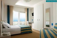 Who would like to stay in this modern, minimalist room, provided with a terrace and a beautiful sea view? http://www.hoteladriaticpalace.com/