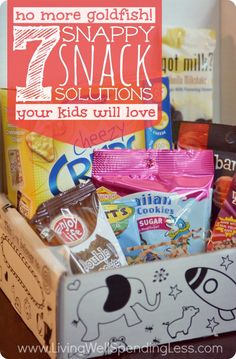 No More Goldfish! 7 snappy snack solutions your kids will love!