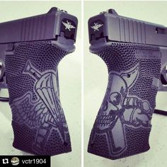 @vctr1904 Amazing stipple job. The picture doesn't do it justice. Tribute piece to some of the baddest mofos' out there. I'm lucky to know a few of you.  Save those thumbs & bucks w/ free shipping on this magloader I purchased mine http://www.amazon.com/shops/raeind  No more leaving the last round out because it is too hard to get in. And you will load them faster and easier, to maximize your shooting enjoyment.